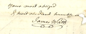 James Watt signature