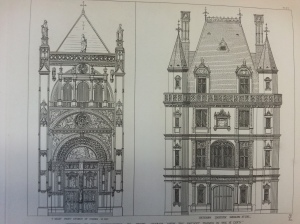 Drawing for domestic architecture from An Apology for the Revival of Christian Architecture (Sp Coll BG44-c.2)