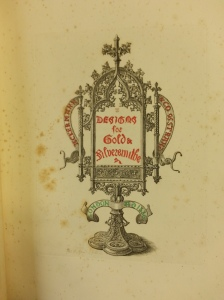 Title page of Designs for Gold & Silversmiths (Sp Coll PAA f228)