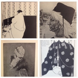 Four images of Volume III  Aubrey Beardsley, Portrait of Himself Thomas Broughton, Mantegna Aubrey Beardsley La Dame aux Camelias Albert Foschter, From a Pastel