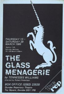 The glass menagerie. Dundee Repertory Theatre, March 1986. STA Bb 11/6e