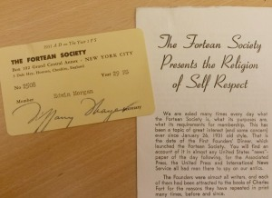Edwin Morgan's Fortean Society Membership Card