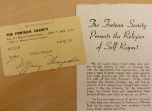 Edwin Morgan's Fortean Society Membership Card