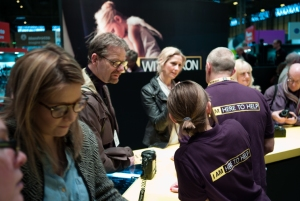 Neil, one of our photographers from the Photographic Unit, visiting the Nikon stand.