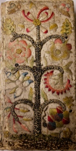 Embroidered binding from Sp Coll F-f.8