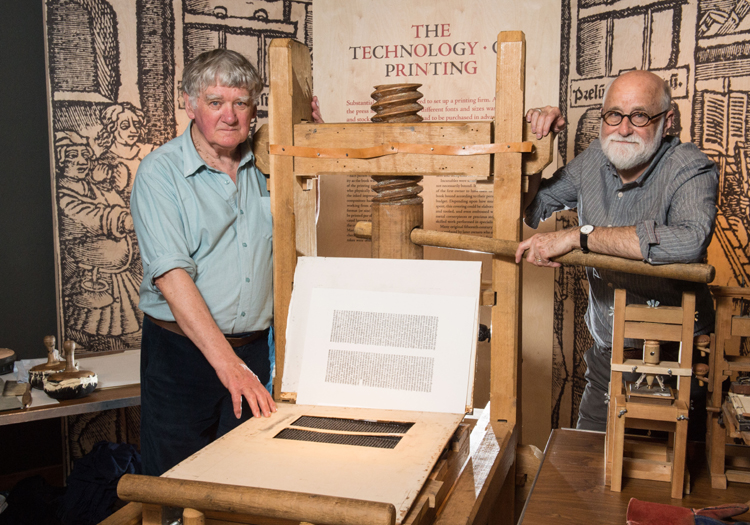 Alan May, Martin Andrews & the replica Gutenberg press