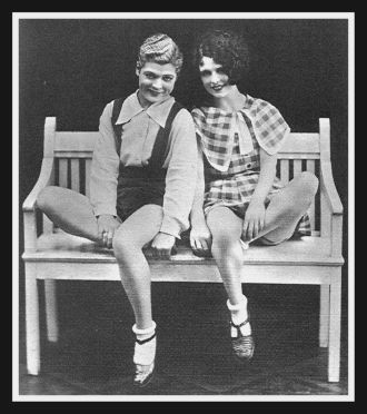 Renee and Billie in 1926. Theatre E520 BUS