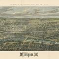 Bird's Eye View of Glasgow 1864