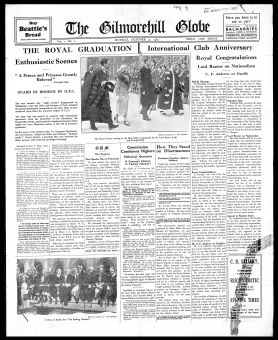The Gilmorehill Globe, 17th Oct 1932