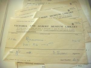 Recquisition slips, MS Sutton Acc 4610 Box 80
