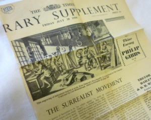 Section from Times Literary Supplement, from Mitchell Library