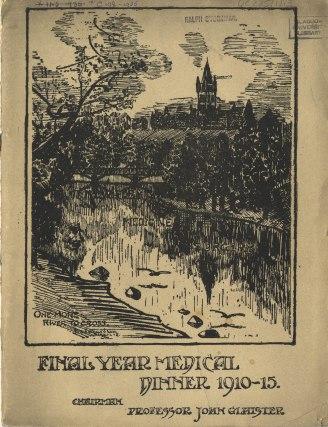 1910-1915 Final Year Dinner Book
