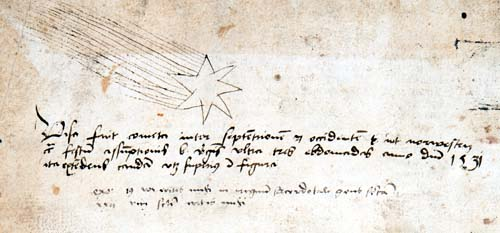 Inscription about Halley's comet