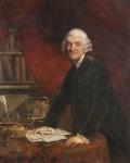 William Hunter. Painted postmortem by Joshua Reynolds c. 1787. Note the anatomical preparation on the desk. Hunterian Museum & Art Gallery GLAHA 43793