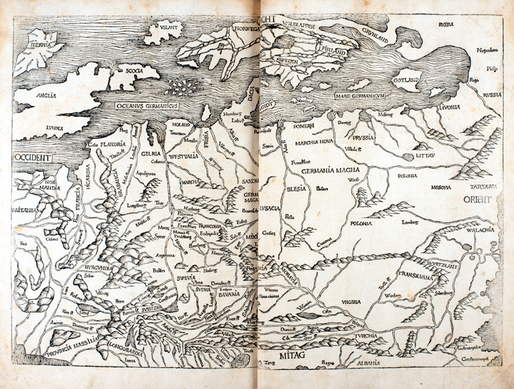 Map of Northern Europe from the Nuremberg Chronicle