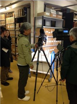 Filming the records in the repository