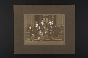 The conference took place in January so it must have been chilly posing for this photograph! Conference of Scottish Aslyum Matrons (1914), ref: HB13/15/2.