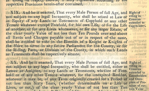 1832 Act to Amend the Representation of the People in England and Wales. Chapter 45