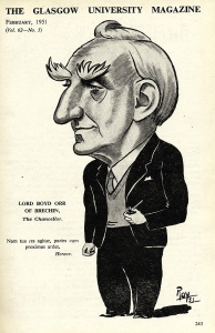Cartoon of Boyd Orr (our ref DC/198/1/49)