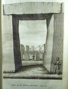 View through Stonehenge trilithon (Sp Coll f450)