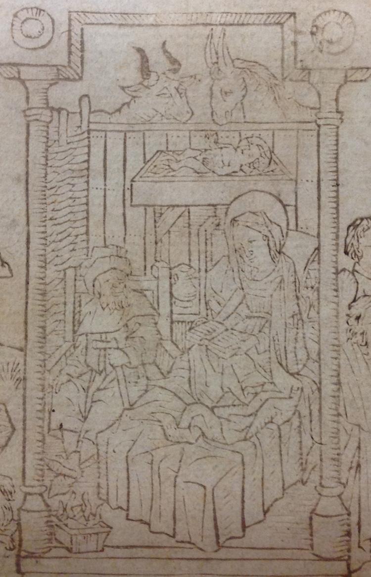 Nativity scene from Hunterian Ds.2.4