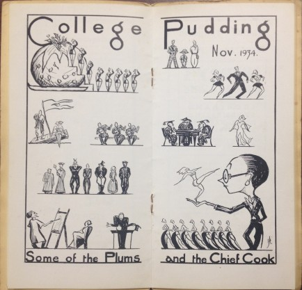 The College Pudding programme 1934 (DC410/9/10)