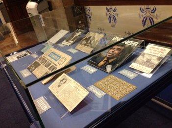 Pop-up display of Jimmy Reid materials