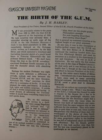 Jubilee ed., J.H.Harley, 'The Birth of the GUM', (14 Dec. 1938), p. 158