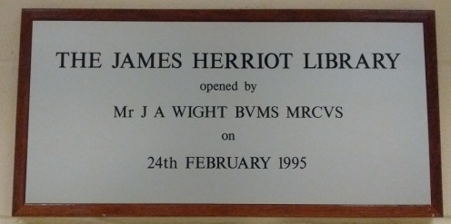 James Herriot Library Plaque