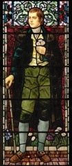 Robert Burns stained glass window in the Chapel