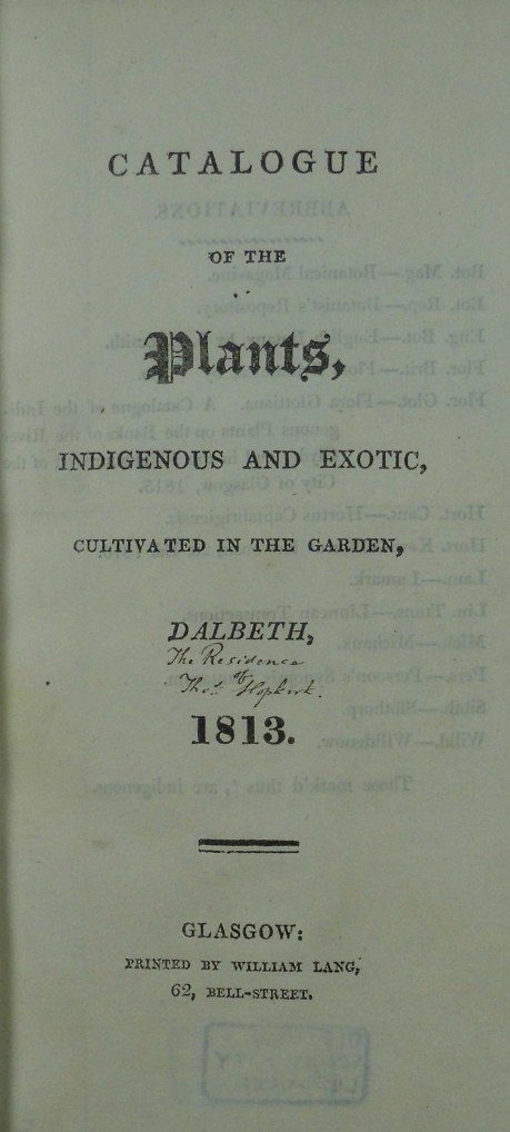 Catalogue of Plants
