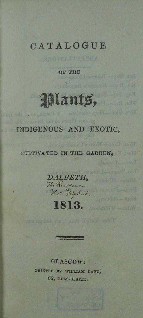 Catalogue of Plants