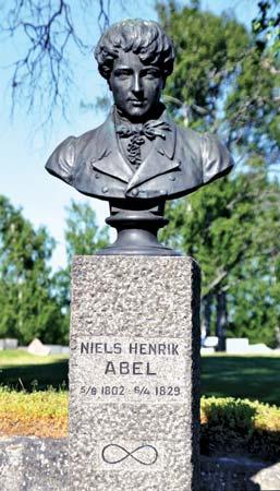 Niels Henrik Abel, bust in Gjerstad, Norway.