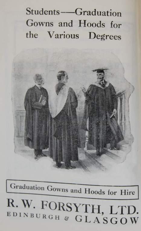 Advert, Students' Handbook 1926-27, DC157/18/36