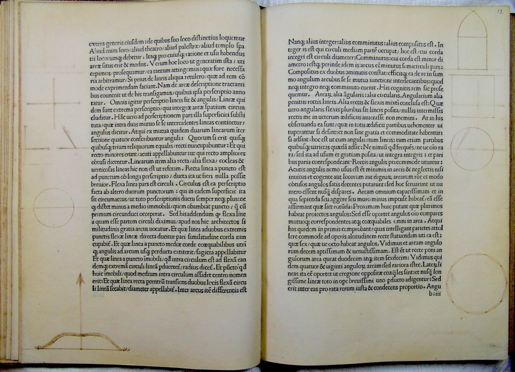 De re aedificatoria with copy specific marginalia (Sp Coll Hunterian Aw.1.15)