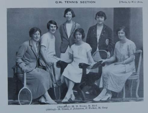 Women's Tennis Section, GUM, 1925-26, DC198/1/32