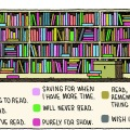 My Library, by Tom Gauld. Used with kind permission of Tom Gauld