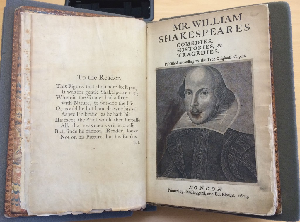 Mr. William Shakespeare's Comedies, Histories, & Tragedies, Sp Coll BD8-b.1