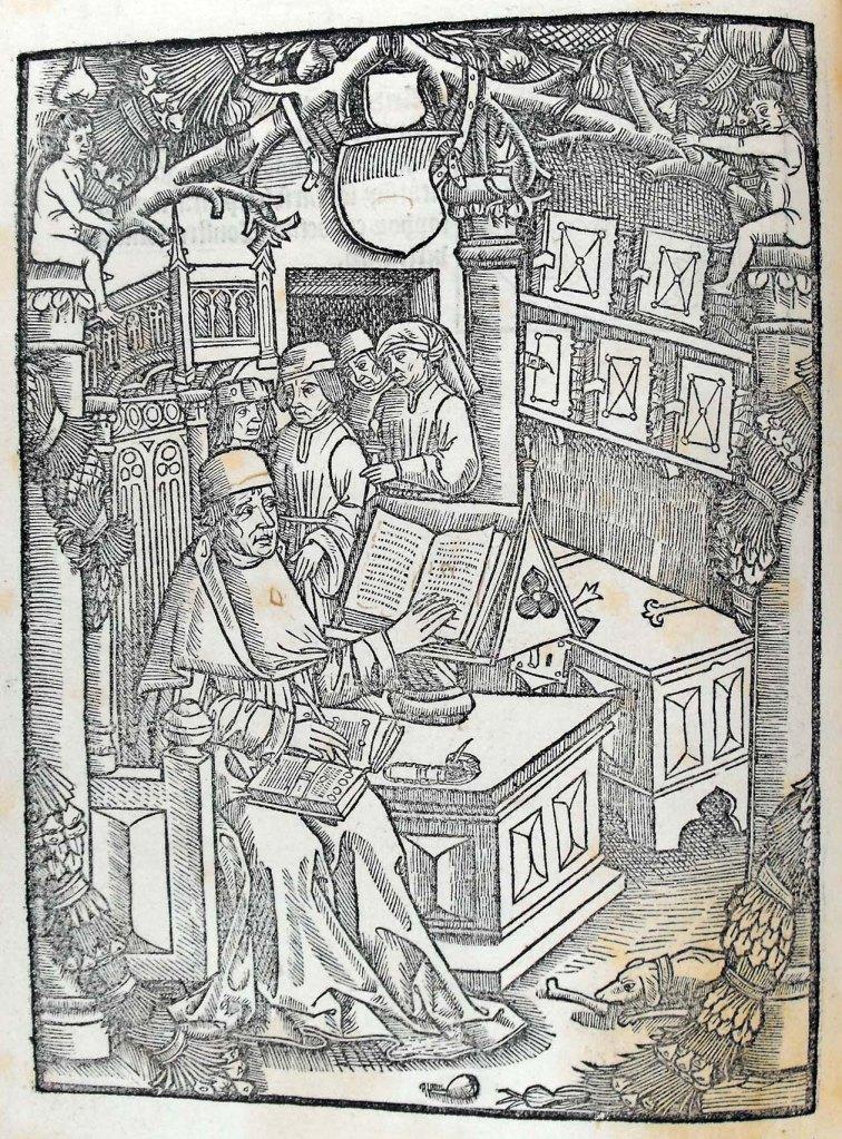 Dialogus creaturarum moralisatus. [Geneva]: Jean Belot, 1500. Illustration at beginning of book (a1v). Sp Coll S. M. 1986.