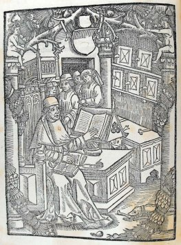 Dialogus creaturarum moralisatus. [Geneva]: Jean Belot, 1500. Illustration at beginning of book (a1v). Sp Coll S. M. 1986.
