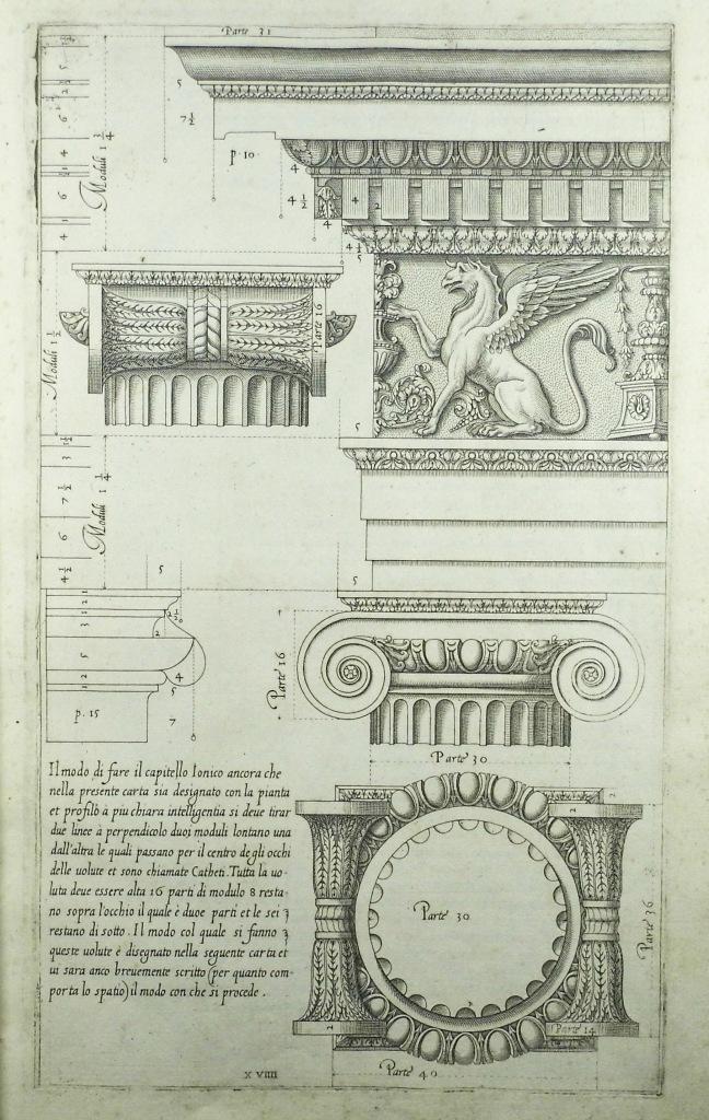 Vignola's Regola delli cinque ordini d'archittetura (Sp Coll S.M. 1911)