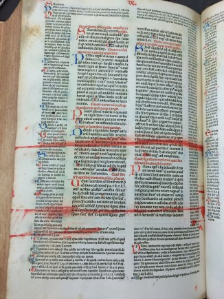 "Rubrication gone wrong in Gratianus' ""Decretum"", published 1474 (Sp Coll Hunterian Bw.1.12)"