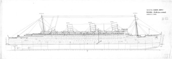 RMS Queen Mary - rigging plan