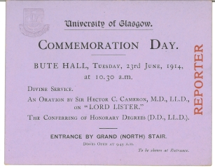 Invitation of Commemoration Day 1914 (Acc130/2/1/2)