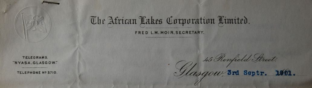 UGC193-1-10-1-17_African Lakes Corporation Ltd_Letter from Fred LM Moir 1901_(b)