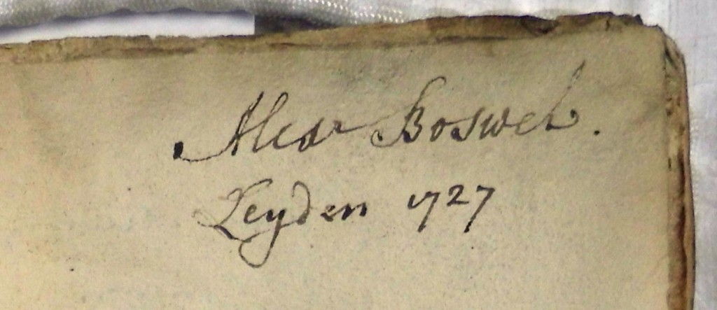 Alexander Boswell's ownership inscription (Sp Coll Mu31-e.11)