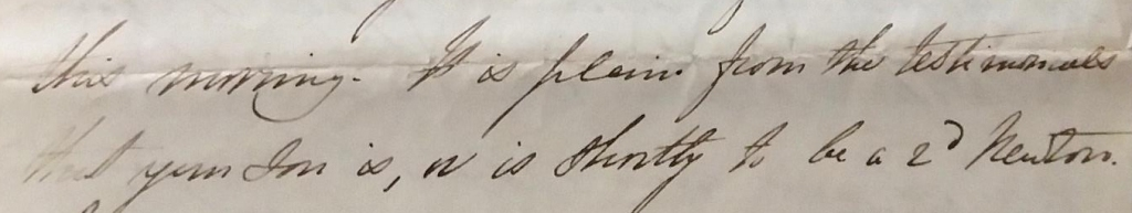 Extract from Letter, Agnes Gall to James Thomson Jnr., 29 June 1846 (University of Glasgow Special Collections, MS Gen 1752/3/1/G/1)