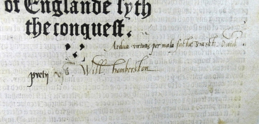 William Humberston's ownership inscription, price paid (six shillings) and a quotation from Ovid (Sp Coll Hunterian Ds.2.1)