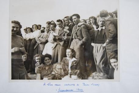 Sing Song at Auchendennan Freshers Camp 1949