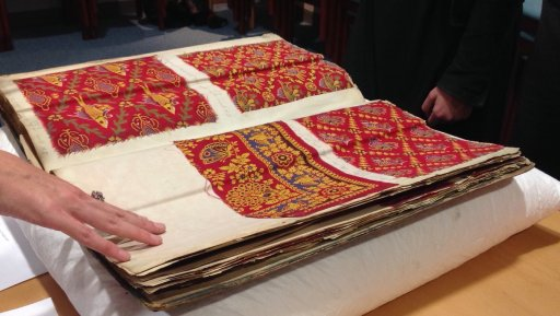 Turkey Red dyes book on display